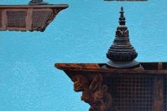 Fading Stupas Acrylic on canvas 40x40 inch 2018 Available